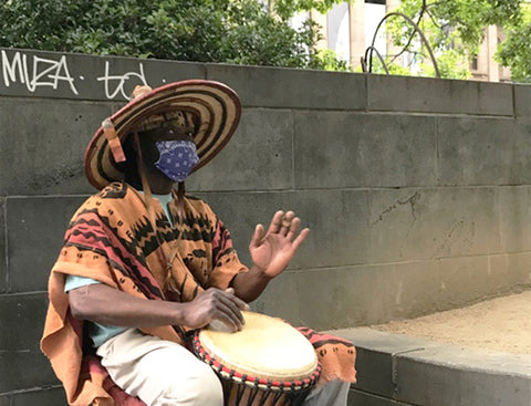 African drumming performance by Mady Keita for ANZ City Vibes in Melbourne
