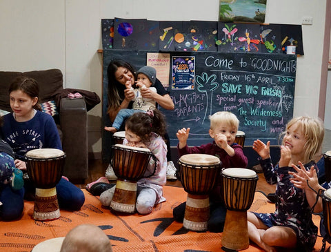 Childcare and playgroup drumming and dance workshop