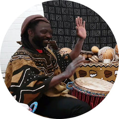 Djembe drumming classes with teacher Mady