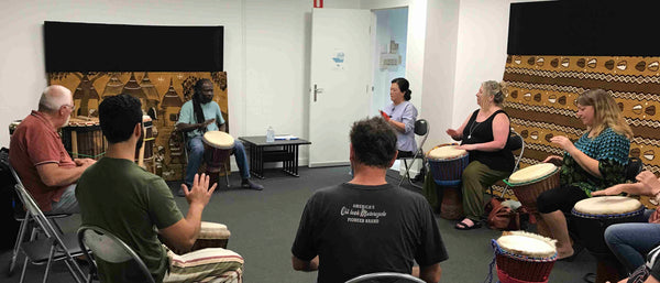 Djembe drumming lessons with Mady Keita