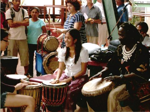 Djembe drumming lessons for kids