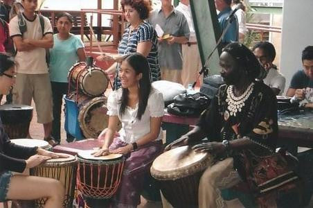 African drumming class with Mady Keita