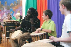 School kids drumming workshop