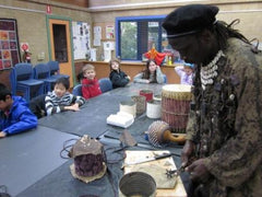 African drum making workshop for school holiday programs