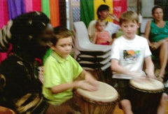 African drumming for school holiday programs