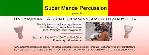 African drumming jam with Mady Keita