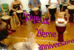 Birthday party with African drumming