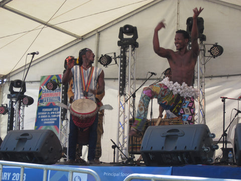 West African drummers and dancers