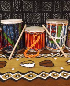 Kids Dounoun Drum - Medium-Drum-Super Mande Percussion