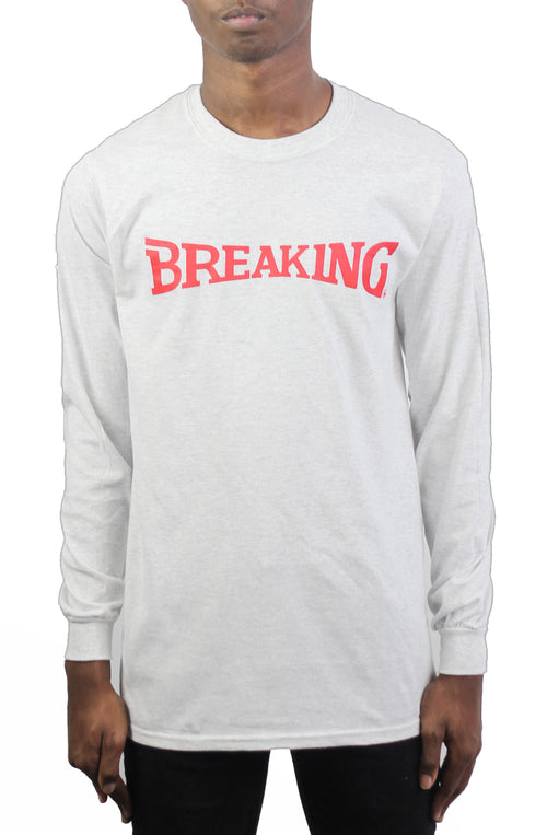 Bofresco Breaking LS Tee - Ash Grey - Bofresco