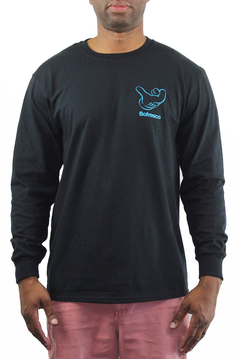 B-Boy Singature Air C*CK Long Sleeve Tee - Blue