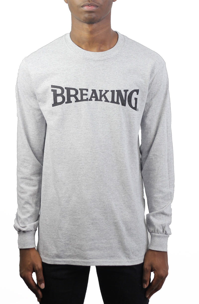 Bofresco Breaking LS Tee - Heather Grey - Bofresco