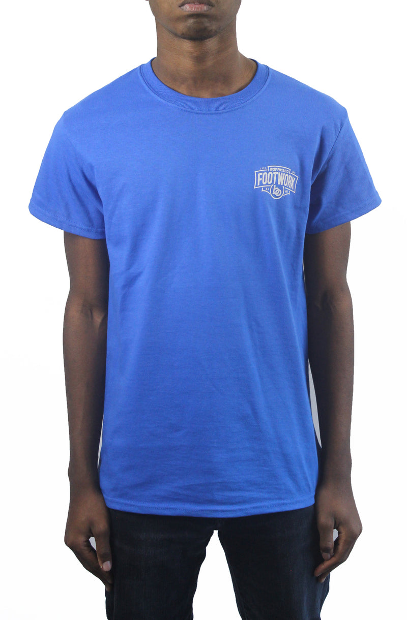 Footwork Is A Must Tee -Royal - Bofresco
