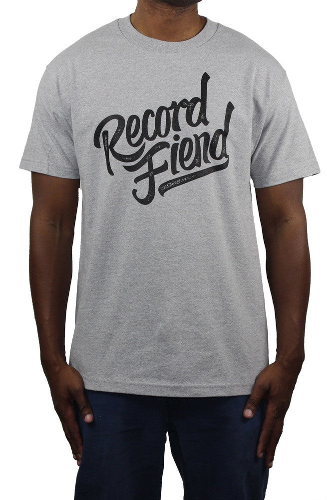 Record Fiend Tee - Heather Grey