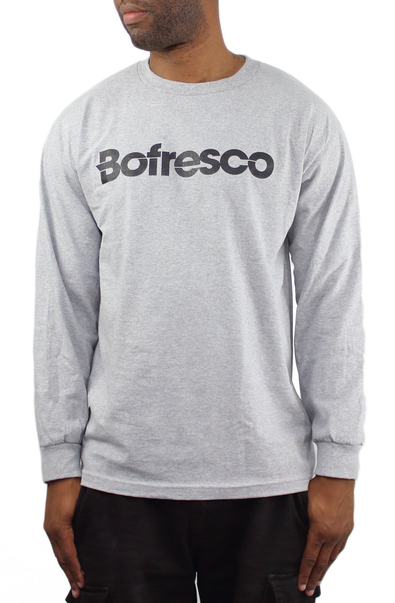 Bofresco Classic Logo Long Sleeve T-Shirt Heather Grey