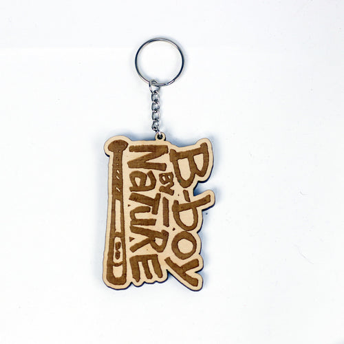 B-boy By Nature Laser Engraved Keychain