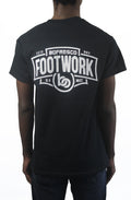 Footwork Is A Must Tee -Black/White
