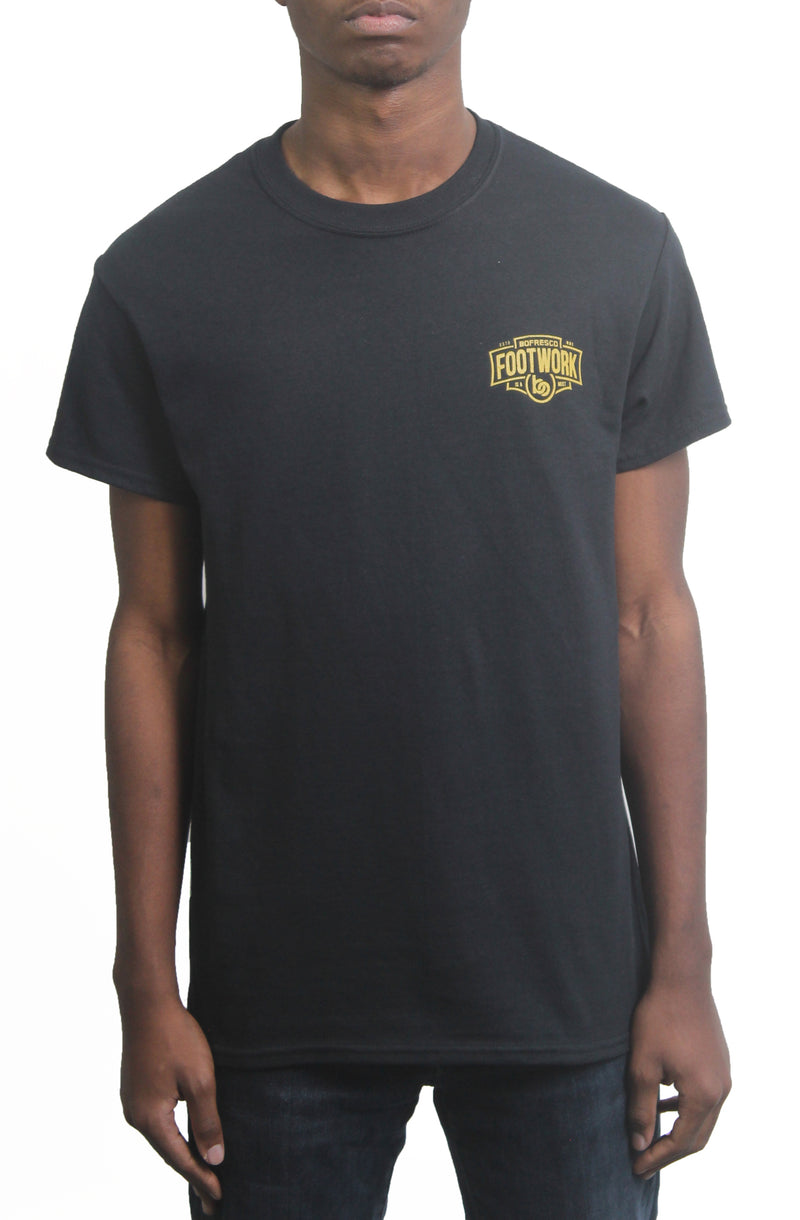 Footwork Is A Must Tee -Black/Yellow Gold - Bofresco