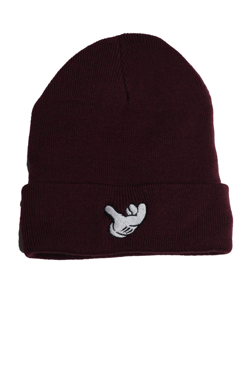 B-Boy Signature Air C*CK Beanie-Burgundy
