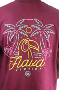 Bofresco Flava Florida Tee - Burgundy