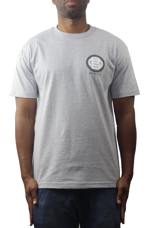 Bofresco Monogram T-Shirt Heather Grey - Bofresco