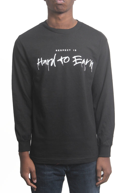Respect is Hard to Earn Long Sleeve - Black - Bofresco