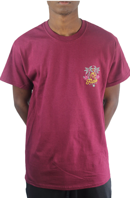 Bofresco Flava Florida Tee - Burgundy - Bofresco