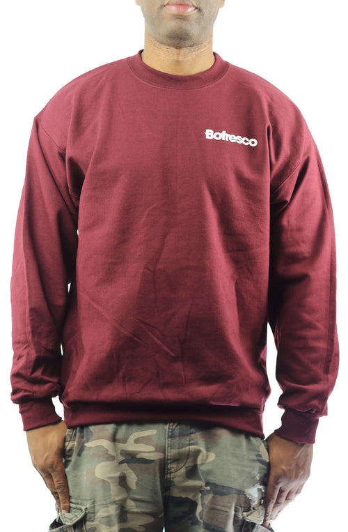 Bofresco Logo Crewneck -Burgundy - Bofresco