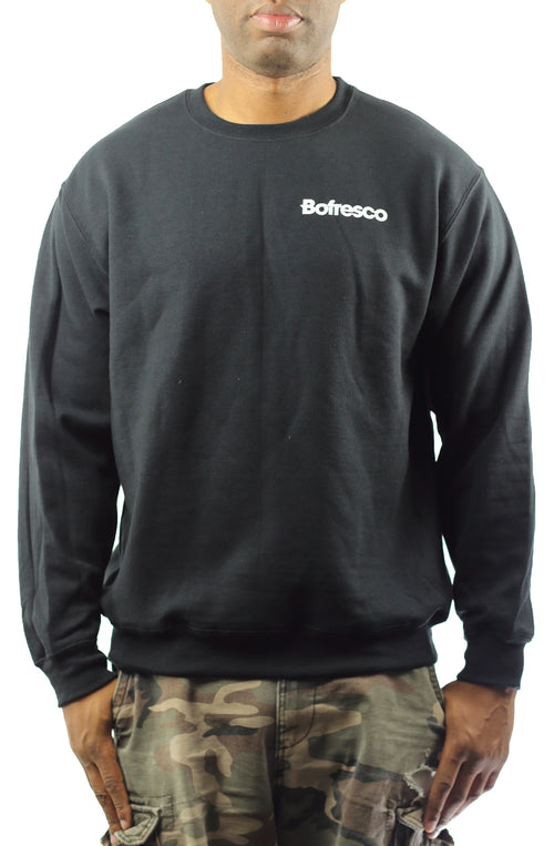 Bofresco Logo Crewneck -Black - Bofresco