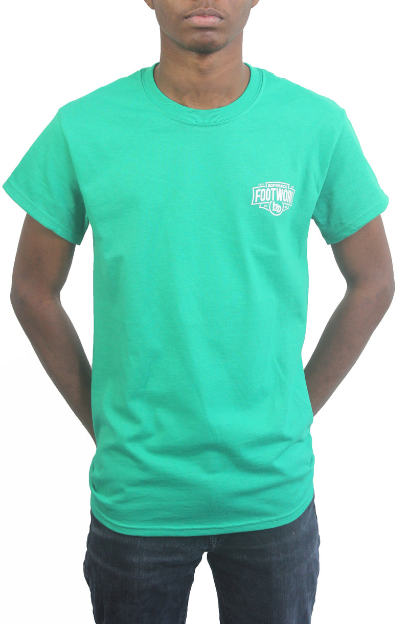 Footwork Is A Must Tee -Kelly Green