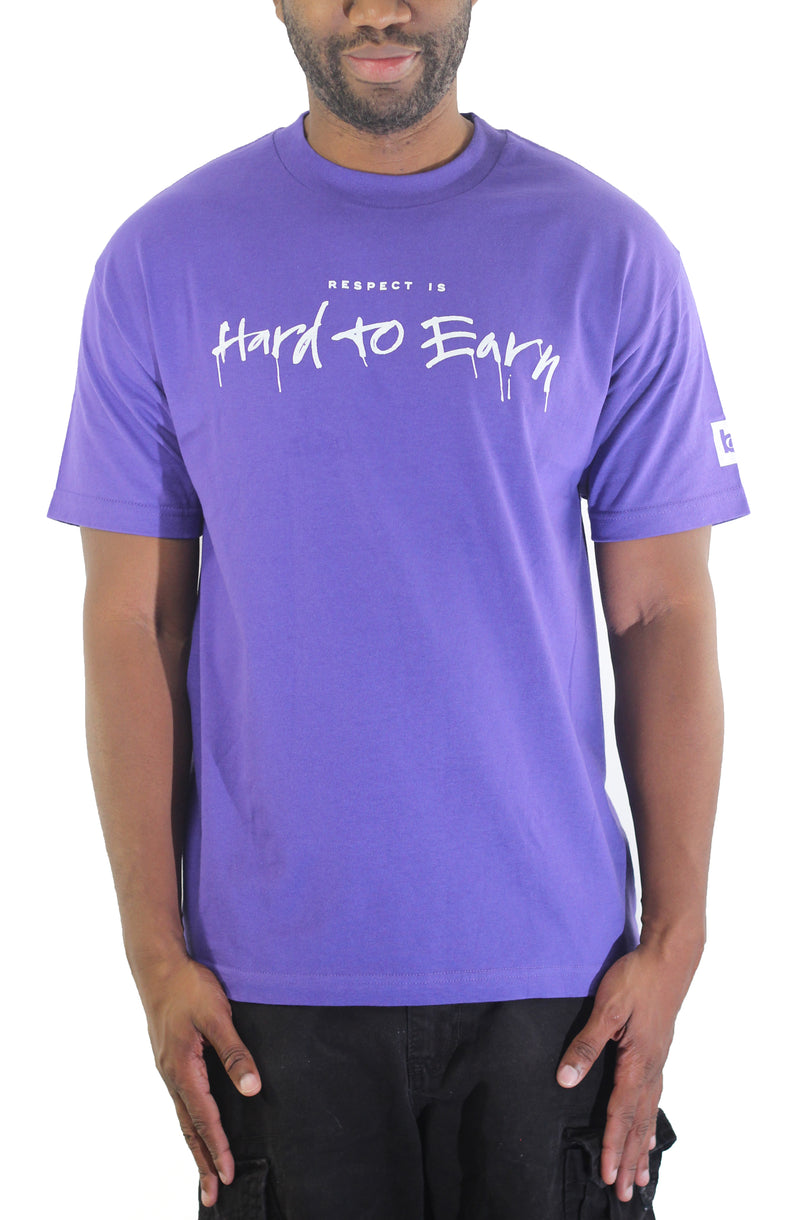 Respect is Hard to Earn T-Shirt - Purple