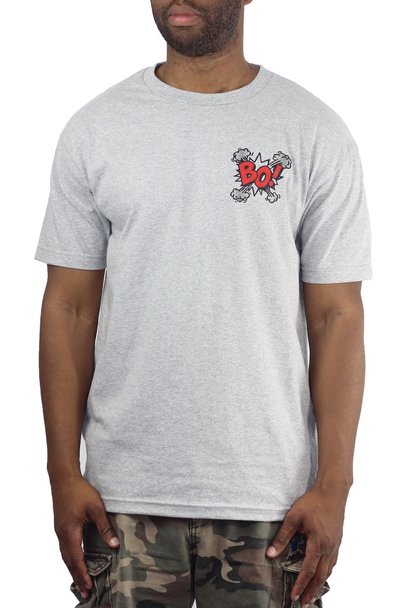 BO! Tee Heather Grey