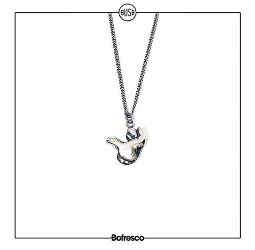 Bofresco x Busbee Air Cock Silver Handmade Necklace