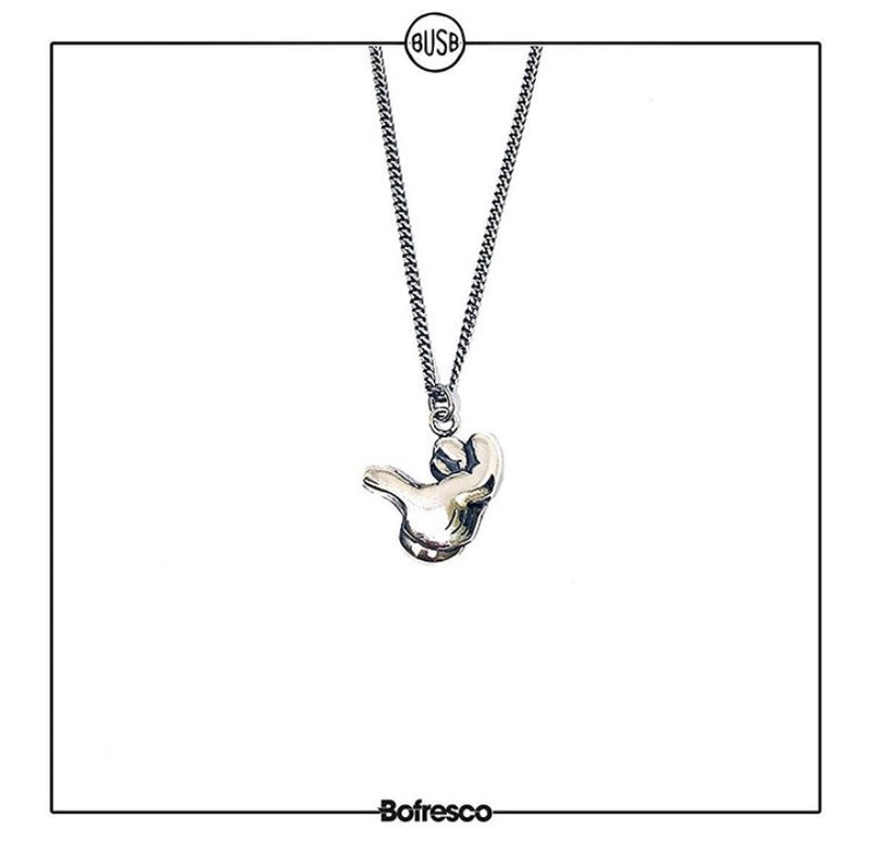 Bofresco x Busbee Air Cock Silver Handmade Necklace - Bofresco
