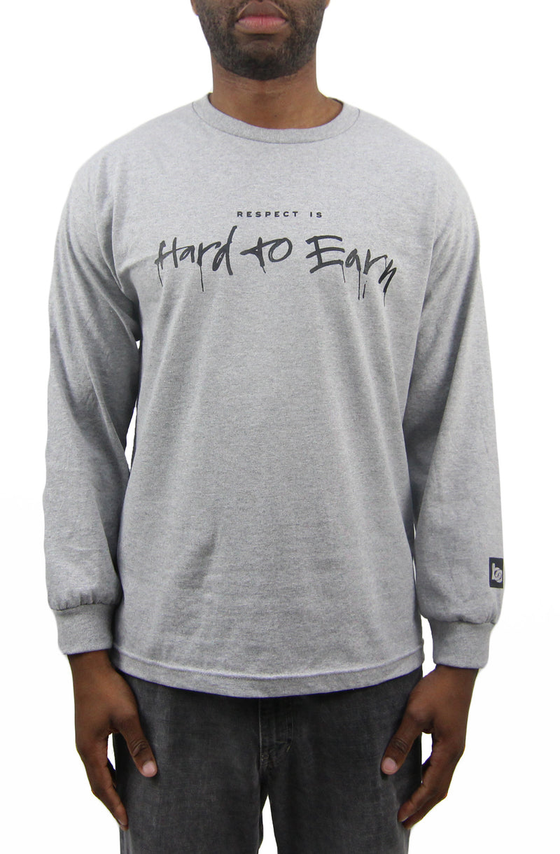 Respect is Hard to Earn Long Sleeve - Heather Grey - Bofresco