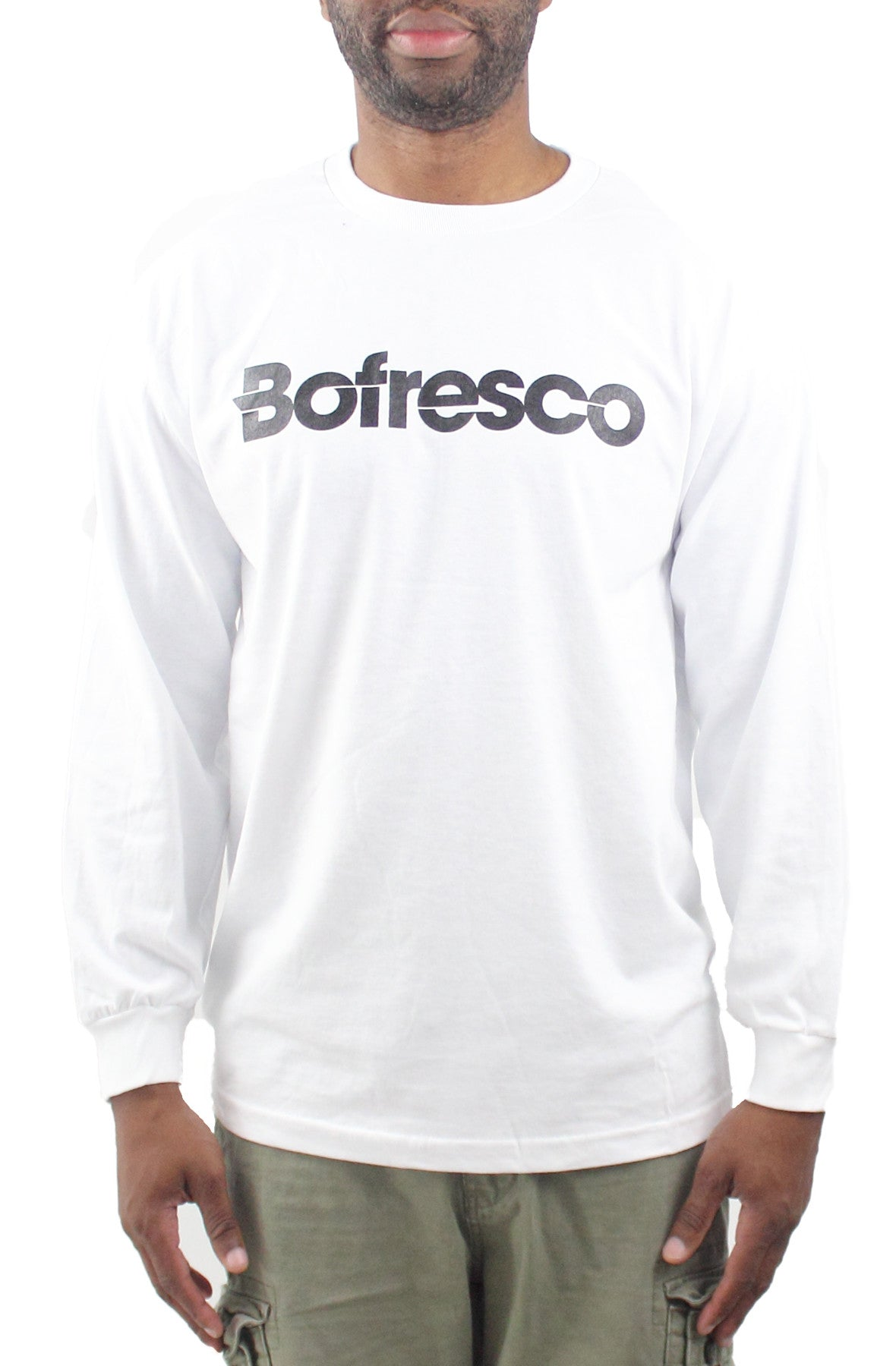 ae97bcb38a62 Bofresco Classic Logo Long Sleeve T-Shirt White