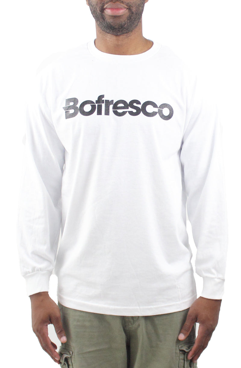 Bofresco Classic Logo Long Sleeve T-Shirt White