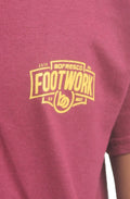 Footwork Is A Must Tee -Burg/Yellow Gold