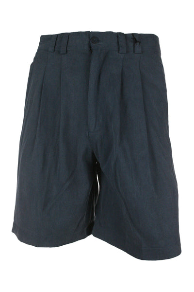 Tori Richard Mens Blue Pleated Walking Shorts