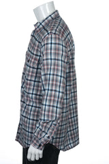 CR by Club Room Mens Light Gray Plaid Button Down Shirt