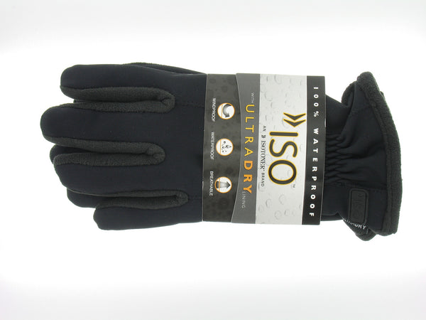 Isotoner Mens Black Insulated Gloves