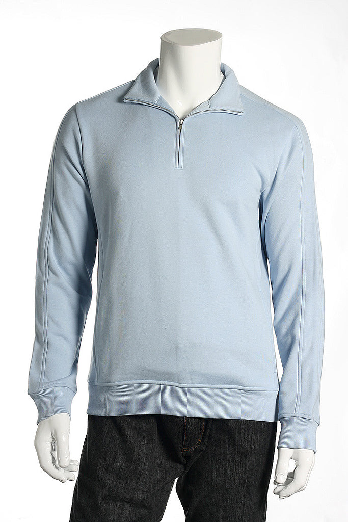 Calvin Klein Mens Blue Half Zip Sweater