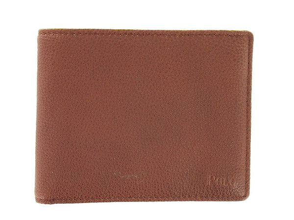 Polo by Ralph Lauren Mens Brown Bi-Fold Wallet