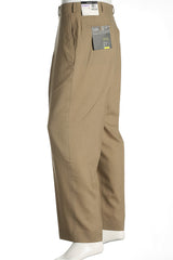 Alfani Mens Beige Flat Front Dress Pants