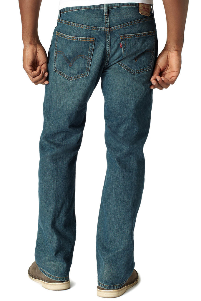 559 by Levis Mens Blue Heather Relaxed Fit Jeans