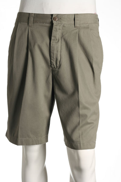 Club Room Mens Brown Pleated Walking Shorts