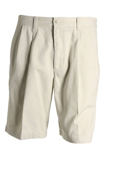 Club Room Mens Beige Pleated Walking Shorts
