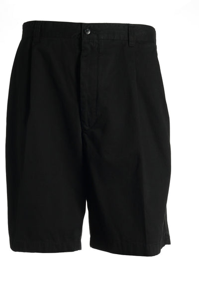 Club Room Mens Black Pleated Walking Shorts