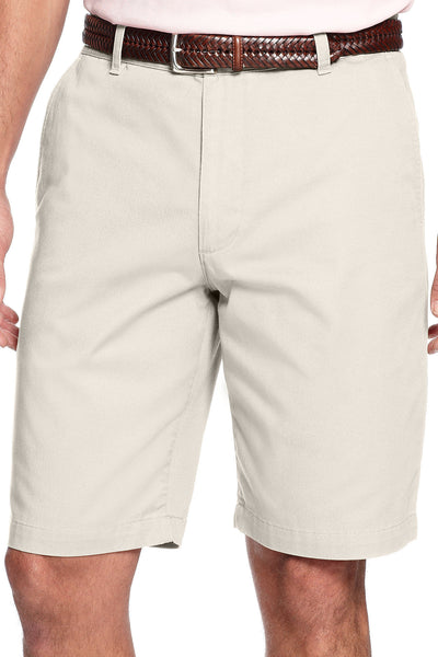 Dockers Mens Khaki Flat Front Walking Shorts