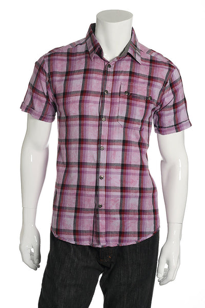 Quiet Royalty Mens Pink Button Down Shirt